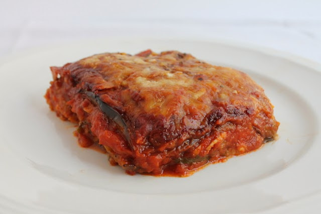 Food Lust People Love: A quicker version of classic eggplant Parmigiana but still including the essential ingredients: Golden eggplant, bread crumbs and rich tomato sauce topped with mozzarella and Parmesan then baked to bubbly perfection.