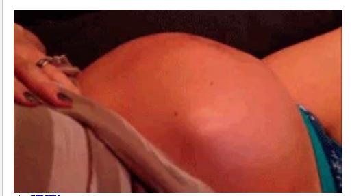 Seakan-akan Mau Keluar, Gerakan Agresif Bayi dalam Perut Ibu ini Bikin Ngilu