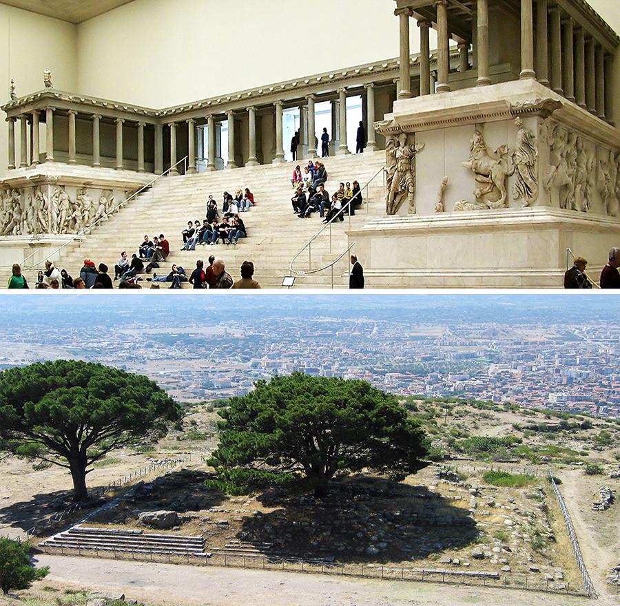 Pergamon Museum and Pergamon Great Altar orjinal location is at Bergama Now