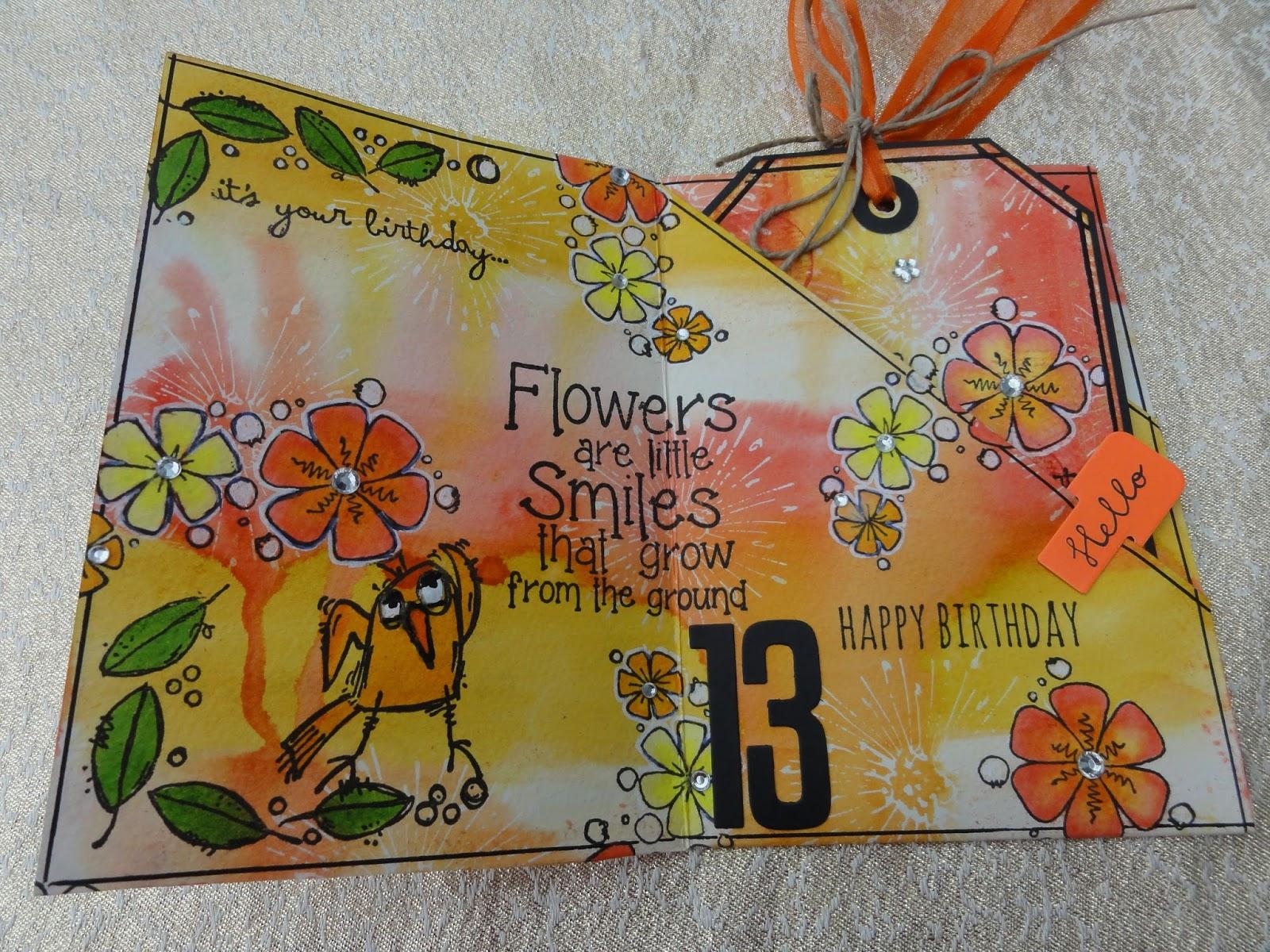 Maria S Knutselplezier Verjaardagskaart Voor Een 13 Jarige