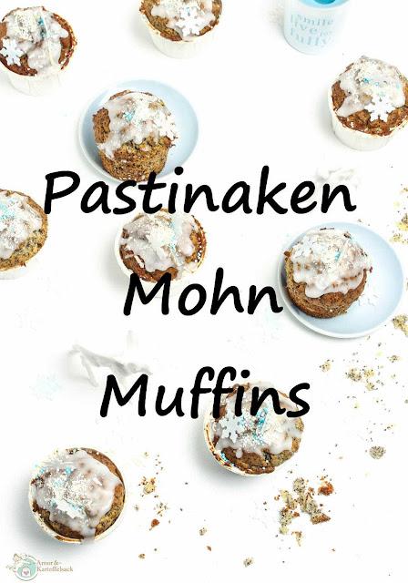 Muffins mit Pastinaken und Mohn