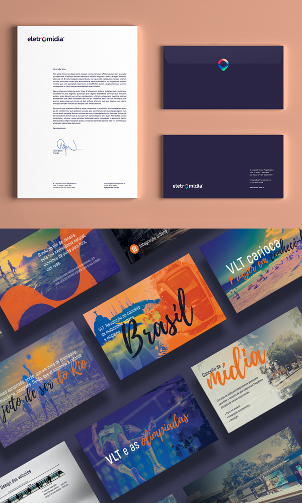 Inspirasi Desain Branding Identity - Eletromidia Branding