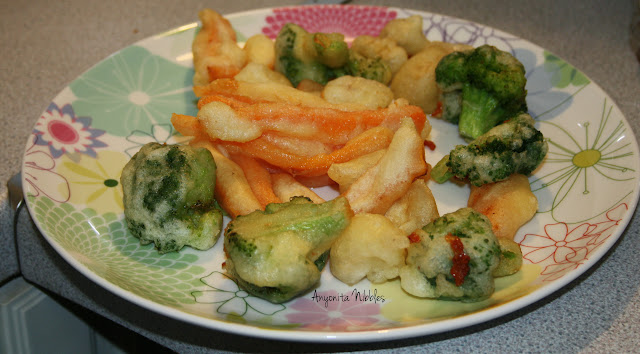 Carrot and Broccoli Tempura
