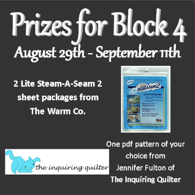 Prizes for block 4 of the I Wish You a Merry Quilt Along