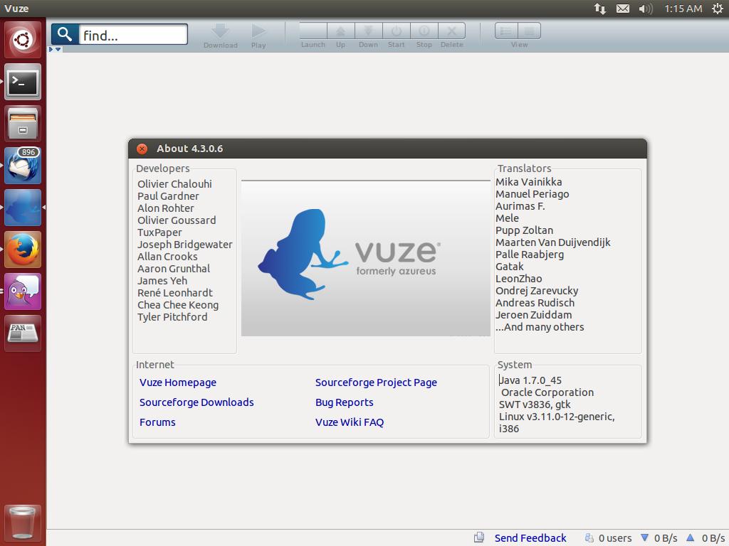 Linux vuze : Liste der Proxy-Server