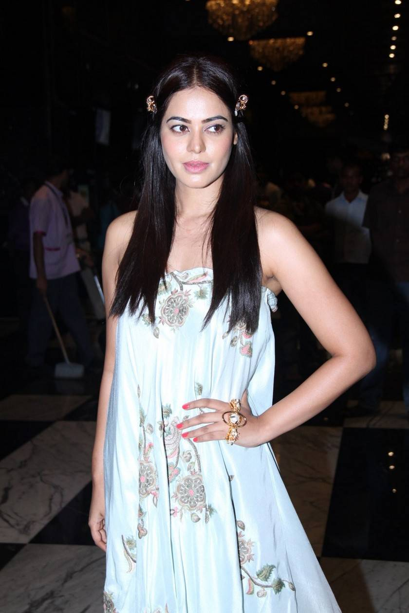 Glamorous Bindu Madhavi Photos In Blue Dress