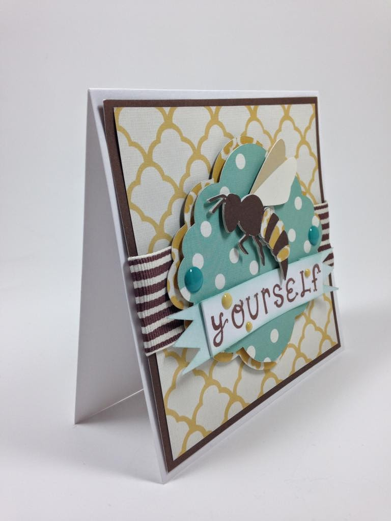 Cricut Artiste Bee Yourself card sideview
