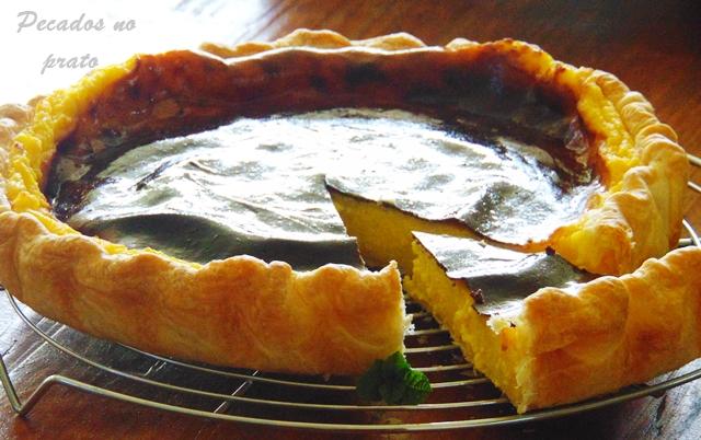Receita da tarte de nata simples