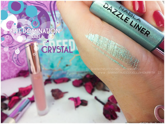 crystal dazzle liner swatches nabla cosmetics freedomination collection summer