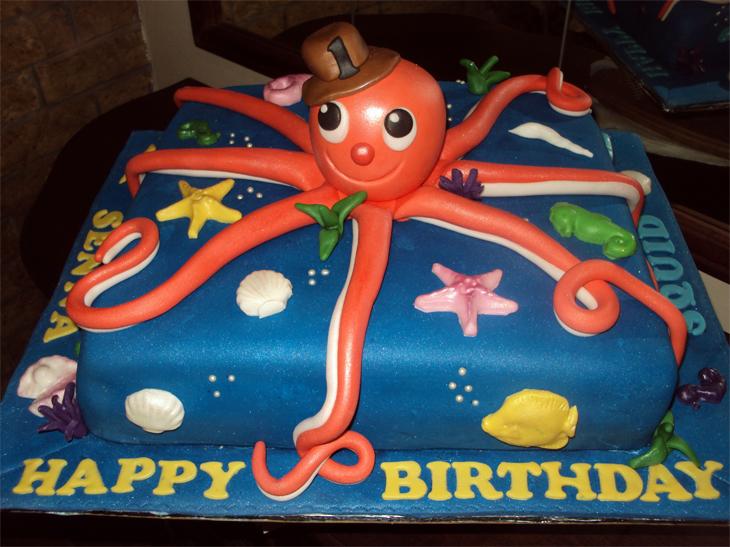 Delana S Cakes Quot Squid Quot Birthday Cake