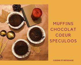 muffins chocolat coeur speculoos