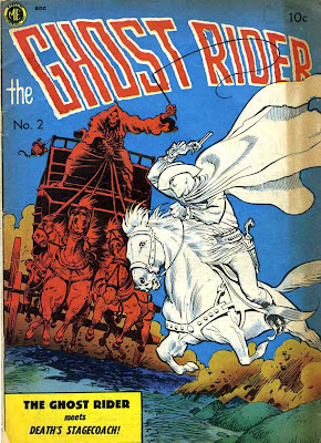 Ghost Rider v1 #2 comic book cover art by Frank Frazetta