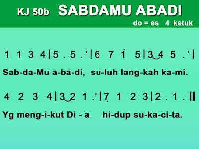 Lirik dan Not Kidung Jemaat 50b SabdaMu Abadi