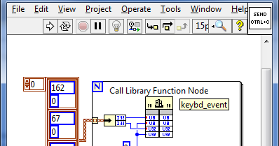 Etching Pathways: LabVIEW: Simulating keyboard events