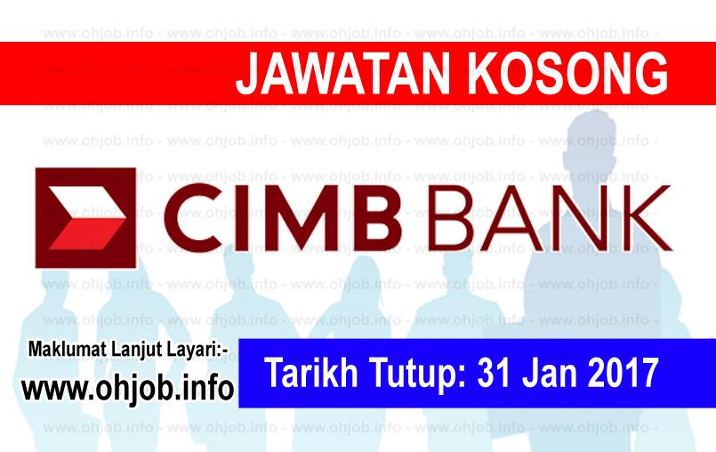 Jawatan Kerja Kosong CIMB Bank logo www.ohjob.info januari 2017