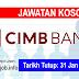 Job Vacancy at CIMB Bank