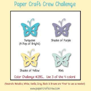 Paper Craft Crew Colour Challenge #PCC285 from Mitosu Crafts UK