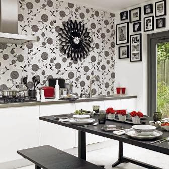 kitchen decorating ideas vinyl wallpaper