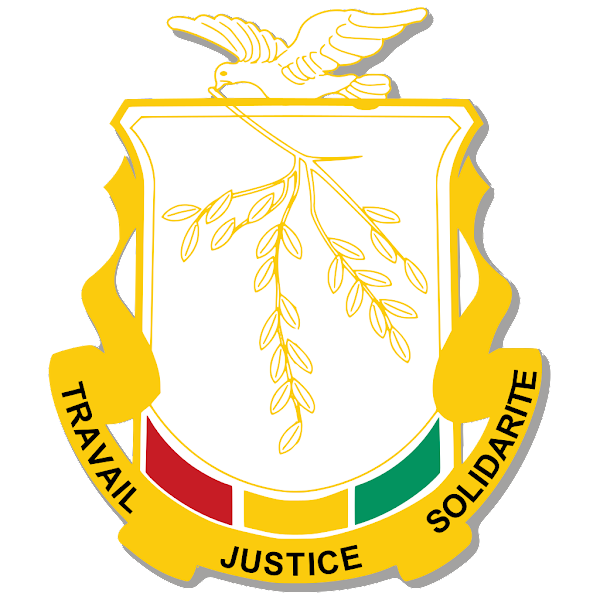 Logo Gambar Lambang Simbol Negara Guinea PNG JPG ukuran 600 px