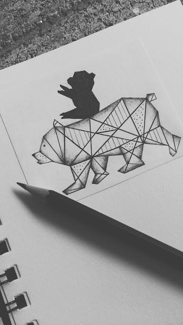 geometrical,bear,tattoo,design,bear tattoo