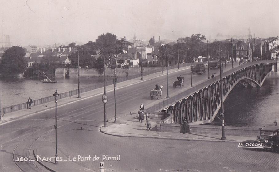 NANTES avant & en 39/45: NANTES pont de Pirmil