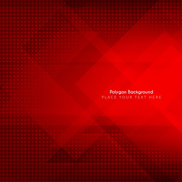 Polygonal red background Free Vector