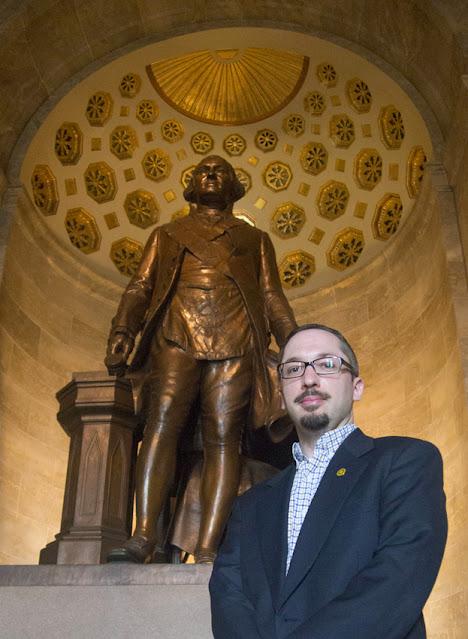 Travis Simpkins at the George Washington Masonic Memorial in Alexandria, Virginia