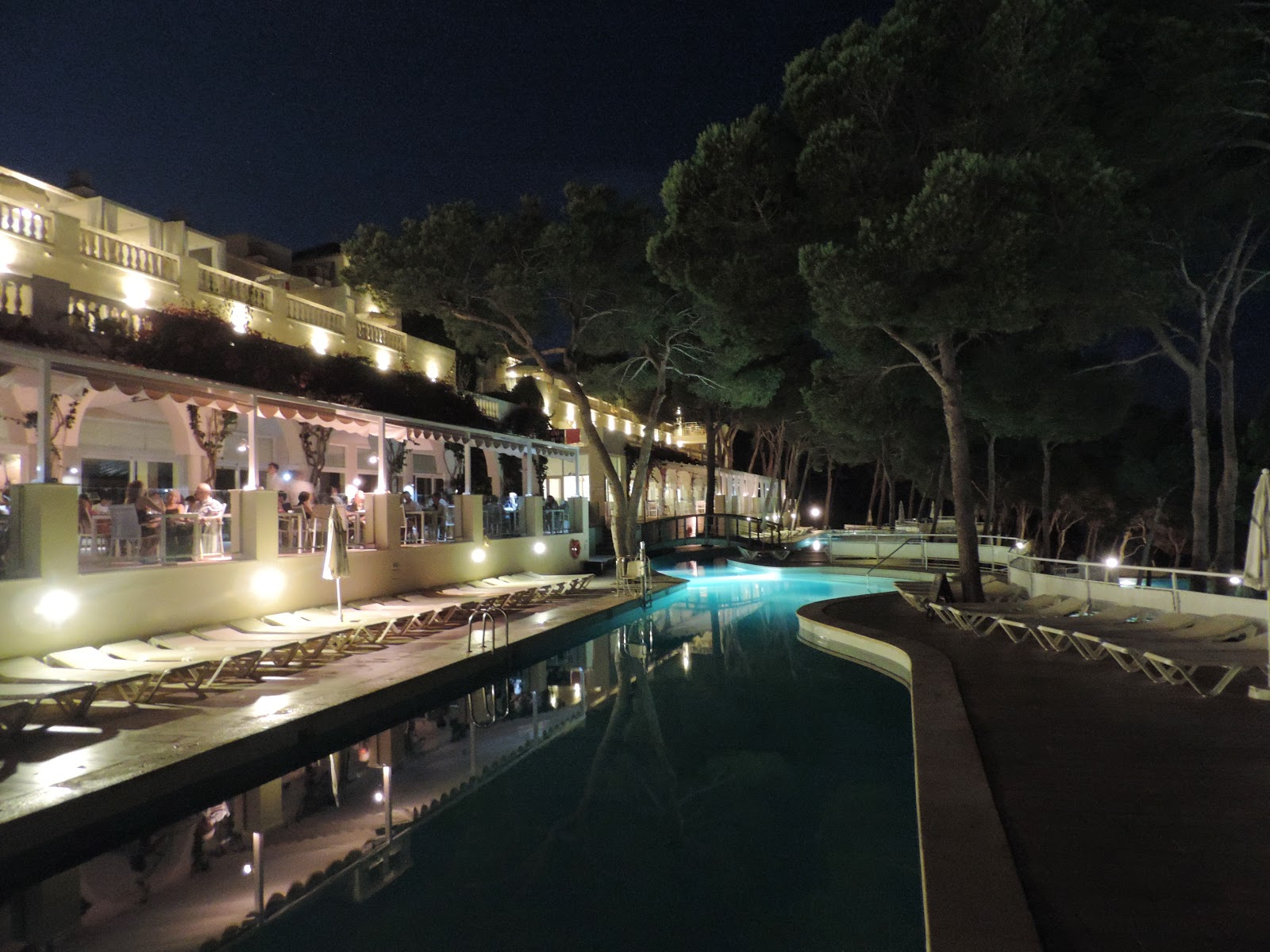hotel swimming pool at night iberostar cala barca mallorca