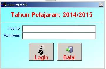 Aplikasi pendataan UN 2015 MI Kota Surabaya