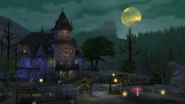 Imagen del barrio Forgotten Hollow en Los Sims 4 Vampiros