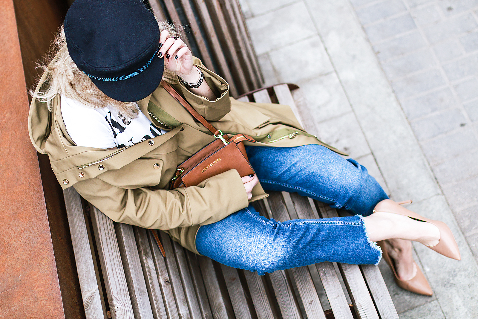 Margarita_Maslova_Ritalifestyle_Fashion_blogger_Moscow_MK_bag_parka_jacket_kepi_croped_jeans_nude_heels