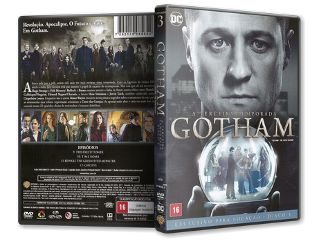 Capa DVD Gotham - Terceira Temporada - Disco 3