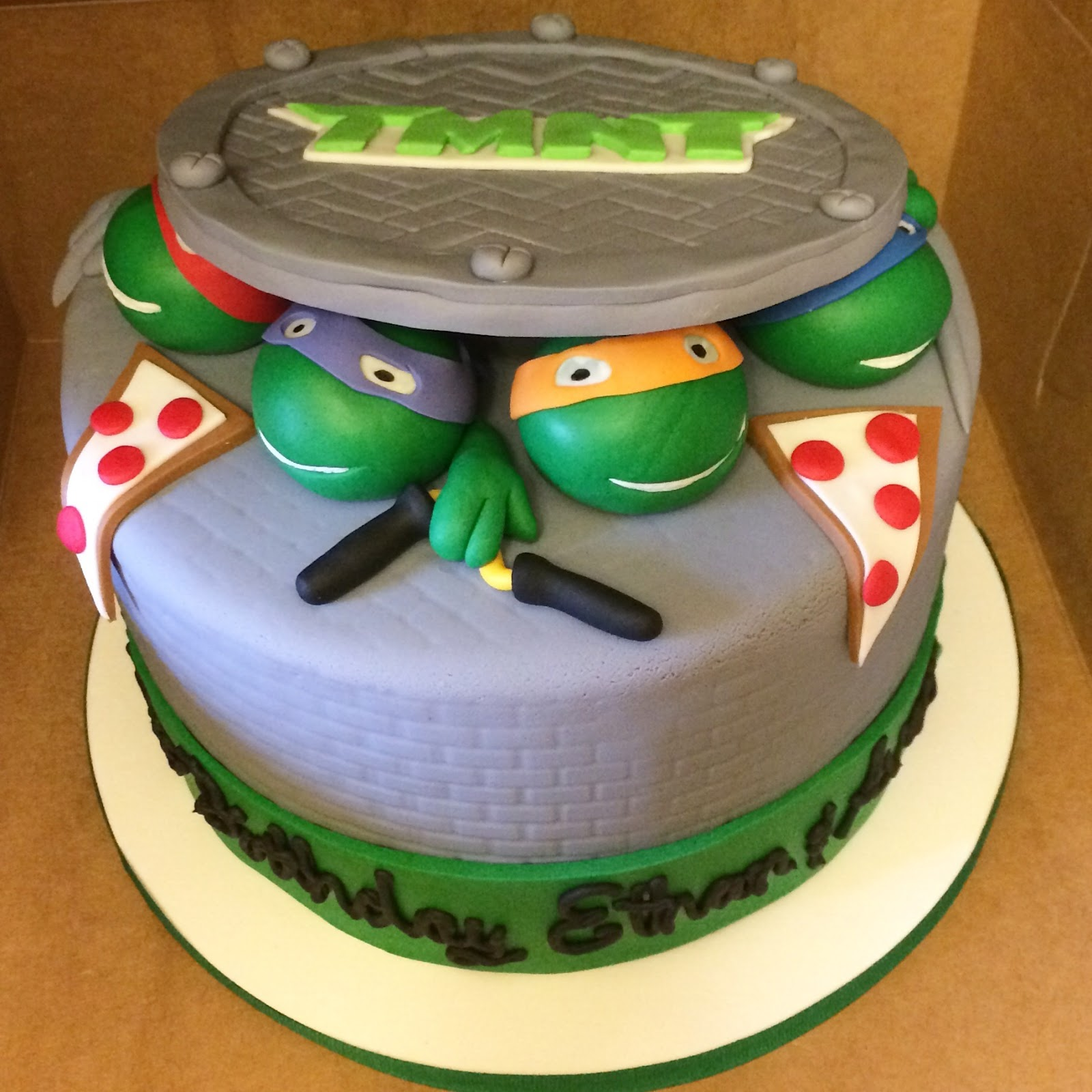 Tmnt Birthday Cake Template