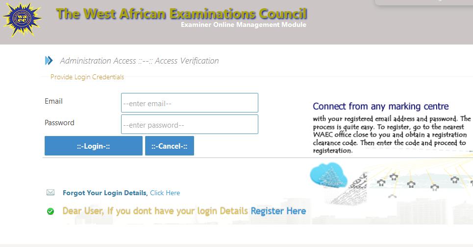 WAEC Examiners Online Registration Form | Become an External