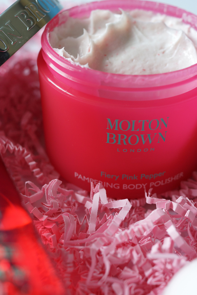Hello Freckles Molton Brown Fiery Pink Pepper Body Polisher Review