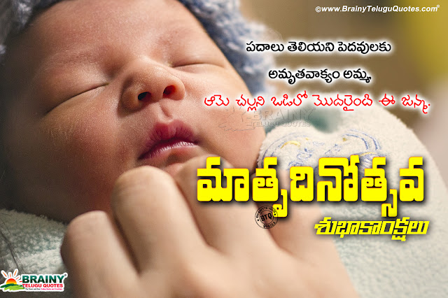 nice words on mothers in telugu, telugu mother's day quotes, best words on mother on mother's day