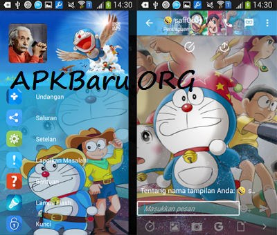 BBM Mod Doraemon with iMessenger V7 and Transparent v3.0.1.25 Apk