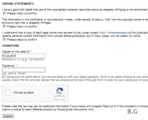 cara melaporkan blog copast ke google DMCA