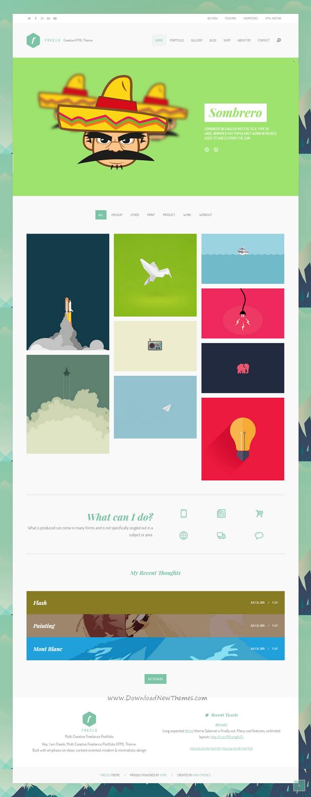 Freelo Creative HTML Portfolio Theme