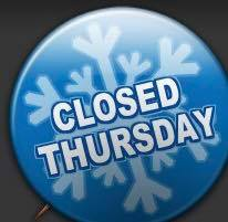Library Closed Thursday, February 9, 2017