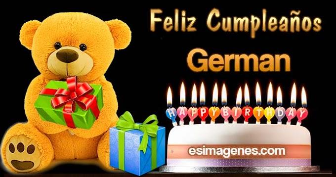 Feliz Cumpleaños German