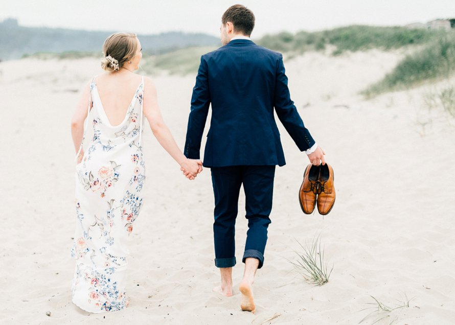 Romantic Cannon Beach, OR Elopement by Wedding Photographer Something Minted