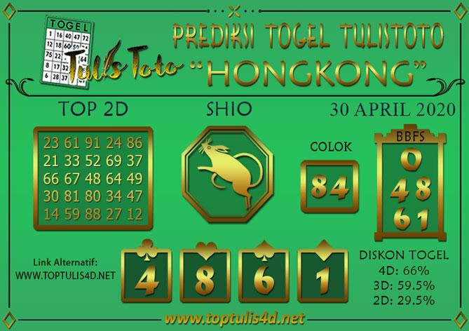 Prediksi Togel HONGKONG TULISTOTO 30 APRIL 2020