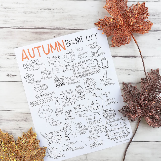 A Lively Hope: Autumn/Fall Bucket List Free Printable