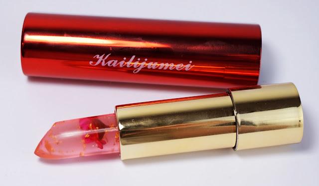 Kailijumei Lipstick (Flame Red) - Der außergewöhnlichste Lippenstift meiner Sammlung! Blume, Goldflocken