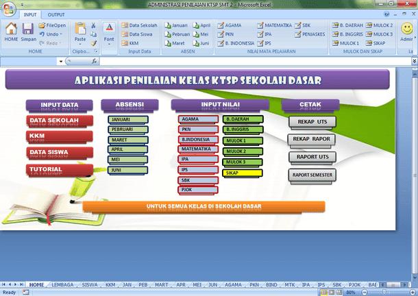 Aplikasi Penilaian KTSP Semester Genap Untuk Semua Kelas SD-MI