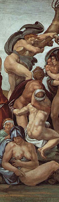 High Renaissance Master, Michelangelo - The Flood (Detail)