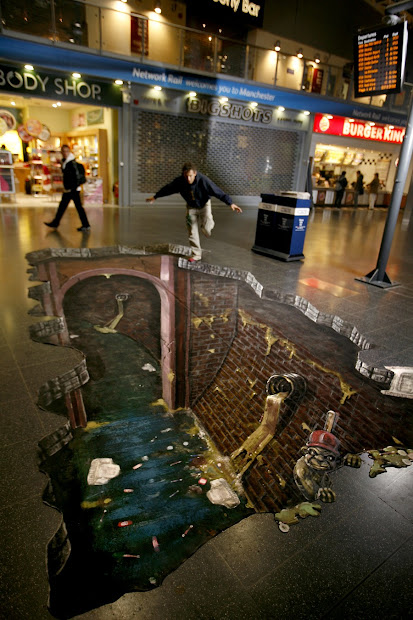 3d Chalk Art Sas Advertising - Sidewalk
