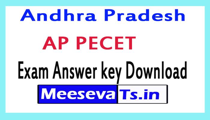 AP PECET Exam Answer key Download 2018