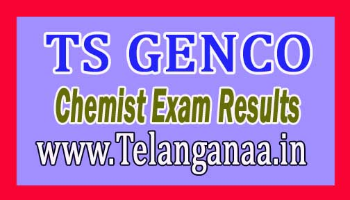TS GENCO Chemist Exam Results Download